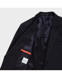 Paul Smith | Blue Men's Tailored-fit Navy Wool-twill 'soho' Suit for Men | Lyst