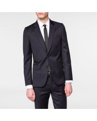 Paul Smith - Blue Men's Tailored-fit Navy Wool-twill 'soho' Suit for Men - Lyst