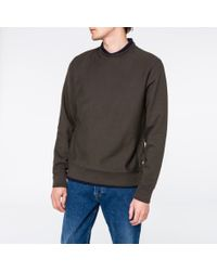 Paul Smith - Gray Men's Charcoal Grey Organic Loopback-cotton Sweatshirt for Men - Lyst