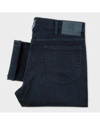 Paul Smith - Blue Men's Slim-fit Over-dyed Crosshatch Stretch-denim Jeans for Men - Lyst