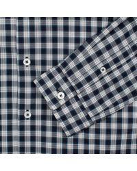 Paul Smith - Blue Slim Gingham Shirt for Men - Lyst