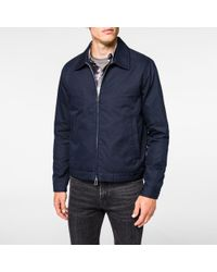 Paul smith Men's Navy Lightweight-cotton Jacket in Blue for Men | Lyst