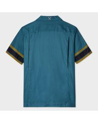 Paul Smith - Blue Men's Dark Petrol Cotton Red Ear Bowling Shirt for Men - Lyst