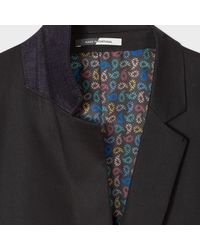Paul Smith - Men's Slim-fit Black Stretch-cotton Buggy-lined Blazer for Men - Lyst