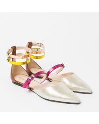 Paul Smith - Multicolor Women's Colour-block Leather 'rosie' Flats - Lyst