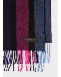 Paul Smith - Multicolor Men's 'cycle Stripe' Lambswool Scarf - Lyst
