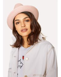 Paul Smith - Pink Woven Trilby Hat - Lyst