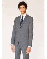 Paul Smith - Gray The Kensington - Slim-fit Grey Check Wool Suit for Men - Lyst