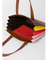 Paul Smith - Brown Women's Tan 'concertina' Tote Bag - Lyst