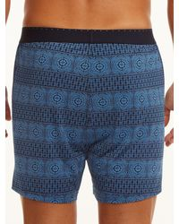 Perry Ellis - Blue Luxe Sequence Boxer for Men - Lyst