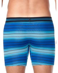 Perry Ellis - Blue Ombre Stripe Mesh Boxer Brief for Men - Lyst