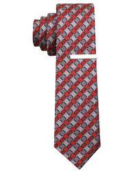 Perry Ellis | Red Gibbes Geo Slim Tie for Men | Lyst