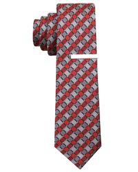 Perry Ellis   Red Gibbes Geo Slim Tie for Men   Lyst