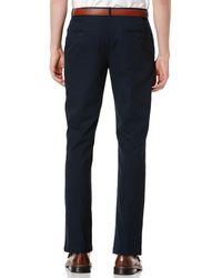 Perry Ellis - Black Portfolio Straight-fit Sorona Solid Twill Pants for Men - Lyst