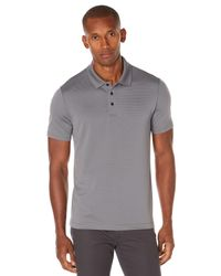 Perry Ellis - Gray Short Sleeve Ottoman Polo for Men - Lyst
