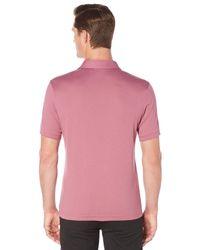 Perry Ellis | Multicolor Short Sleeve Silky Open Collar Polo for Men | Lyst
