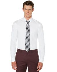 Perry Ellis - White Very Slim Solid Dobby Box Dress Shirt for Men - Lyst