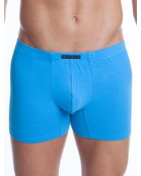 Perry Ellis - Blue 3 Pack Cotton Stretch Solid Boxer Brief for Men - Lyst