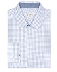 Perry Ellis | Blue Slim Fit Gingham Dress Shirt for Men | Lyst