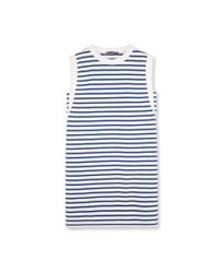 Petit Bateau | White Women's Striped Dress | Lyst