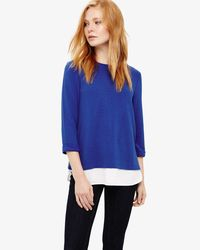 Phase Eight - Blue (w) Ola Ottoman Top - Lyst