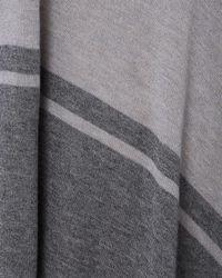 Phase Eight - Gray Stripe Melinda Asymmetric Knit Jumper - Lyst