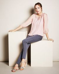 Phase Eight - Multicolor Rose Blouse - Lyst