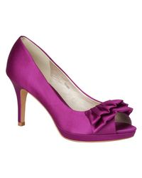 Phase Eight - Multicolor Frill Detail Satin Court Shoes - Lyst