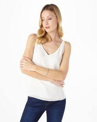 Phase Eight - White Kandice Leather Bracelet - Lyst