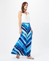 Phase Eight | Blue Painterly Stripe Maxi Skirt | Lyst
