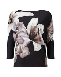 Phase Eight - Black Daria Digital Floral Top - Lyst