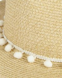 Phase Eight - Natural Pompom Sunhat - Lyst