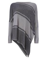 Phase Eight - Gray Stripe Melinda Asymmetric Knit - Lyst