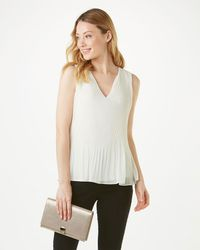 Phase Eight - Blue Ella Pleated Sleeveless Blouse - Lyst
