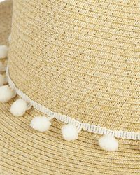Phase Eight - Natural Pom Pom Sun Hat - Lyst