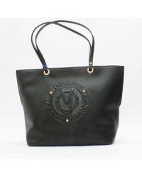 Versace Jeans - Embossed Logo Shopper Black - Lyst