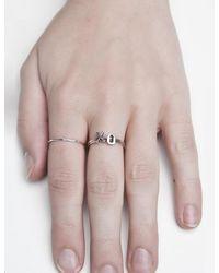 Pixie Market - Metallic Fashionology Tiny Silver Letter Ring - Lyst