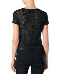 """Philipp Plein - Black T-shirt Round Neck Ss """"mich"""" - Lyst"""