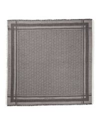 "Philipp Plein - Gray Square Scarf ""phil"" for Men - Lyst"