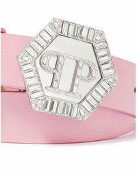 """Philipp Plein - Pink Belt """"azure"""" - Lyst"""