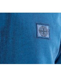 Stone Island - Blue Corrosion Crew Neck Sweatshirt Turquoise for Men - Lyst