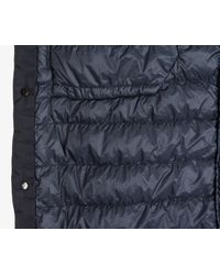 Stone Island - Blue Garment Dyed Crinkle Down Shacket True Navy for Men - Lyst