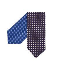 Paul Smith - Reversible Polka Dot Cravat Blue for Men - Lyst