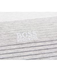 e055672c Boss 'paddy' 3 Contrast Striped Polo White/grey/black in Gray for ...