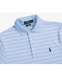 Ralph Lauren - Slim Fit Thin Stripe Polo Shirt Elite Blue/white for Men - Lyst