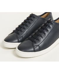Paul Smith - Blue 'miyata' Leather Trainer With Suede Pull Tab Navy/white for Men - Lyst