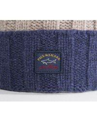 Paul & Shark - Striped Lambswool Hat Autumn Brown for Men - Lyst