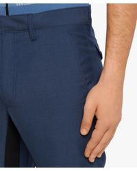 Prada - Blue Wool Pants With Band for Men - Lyst