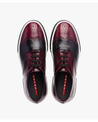 Prada - Multicolor Two-tone Calf Leather Sneakers for Men - Lyst