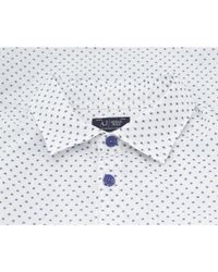 Armani Jeans - White Slim Fit Fastasia Patterned Shirt for Men - Lyst